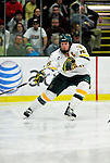 24 November 2009: University of Vermont Catamount defenseman Kevan Miller, a Junior from Los Angeles, CA, in action against the University of Massachusetts Minutemen at Gutterson Fieldhouse in Burlington, Vermont. The Minutemen defeated the Catamounts 6-2. Mandatory Credit: Ed Wolfstein Photo