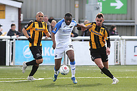 Hassan Jalloh of Havant and Waterlooville tries to shake off a challenge from Maidstone's Michael Phillips during Maidstone United vs Havant and Waterlooville, Vanarama National League Football at the Gallagher Stadium on 9th March 2019