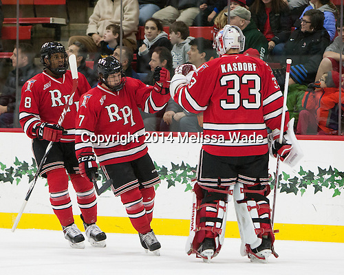 The Harvard University Crimson defeated the visiting RPI Engineers 6-2 on Tuesday, December 30, 2014, at Bright-Landry Hockey Center in Cambridge, Massachusetts.