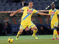 Gokhan Inler  durante l'incontro di calcio di Serie A  Lazio Napoli   allo  Stadio Olimpico  di Romai , 2 Dicembre 2013<br /> Foto Ciro De Luca