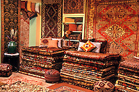 Oriental rug showroom.