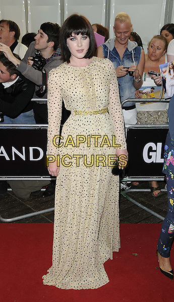 Alexandra Roach<br /> The Glamour Women Of The Year Awards 2013, Berkeley Square Gardens, London, England.<br /> June 4th, 2013<br /> full length white beige sheer polka dot brown clutch bag belt  dress  <br /> CAP/CAN<br /> &copy;Can Nguyen/Capital Pictures