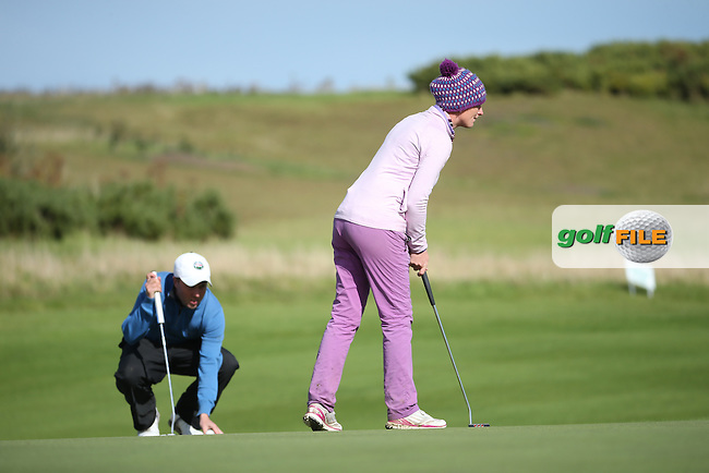 Tara Delaney (The Eddie Doyle Golf Academy) during the final round of  The 106th Irish PGA Championship, at the Moy Valley Hotel & Golf Resort, Kildare, Ireland.  25/09/2016. Picture: David Lloyd | Golffile.