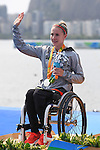 Edina Muller (GER), <br /> SEPTEMBER 15, 2016 - Canoe : <br /> Women's Canoe Sprint KL1 Medal Ceremony <br /> at Lagoa Stadium<br /> during the Rio 2016 Paralympic Games in Rio de Janeiro, Brazil.<br /> (Photo by AFLO SPORT)
