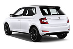 Car pictures of rear three quarter view of a 2019 Skoda Fabia Monte Carlo 5 Door Hatchback angular rear