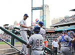 Yu Darvish (Rangers), MAY 22, 2014 - MLB : Yu Darvish of the Texas Rangers walks back to the dugout during the MLB game between the Detroit Tigers and the Texas Rangers at Comerica Park in Detroit, United States. (Photo by AFLO)