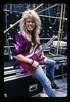 Portrait of Whitesnakes Adrian Vandenberg backstage in Buckeye, Ohio.<br /> July 20, 1987<br /> CAP/MPI/GA<br /> ©GA/MPI/Capital Pictures