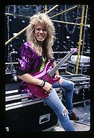 Portrait of Whitesnakes Adrian Vandenberg backstage in Buckeye, Ohio.<br /> July 20, 1987<br /> CAP/MPI/GA<br /> &copy;GA/MPI/Capital Pictures