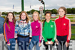 Laura Fitzgerald, Ciara Fitzgerald, Ger O'Callaghan,Roisín Coffey and Tara Moriarty all from Tralee enjoying THE 'Friends Of Kerry General Hospital Benefit Night at the Kingdom Greyhound stadium on Friday