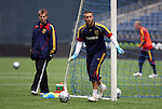 20 November 2009: Goalkeeper Chris Seitz. Real Salt Lake held a training session and press conference at Qwest Field in Seattle, Washington in preparation for playing the Los Angeles Galaxy in Major League Soccer's championship game, MLS Cup 2009, two days later.