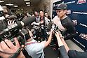 Masahiro Tanaka (RailRiders), MAY 27, 2015 - 3A : New York Yankees pitcher Masahiro Tanaka speaks after a minor league baseball game against the Pawtucket Red Sox at McCoy Stadium in Pawtucket, Rhode Island, United States. (Photo by AFLO)