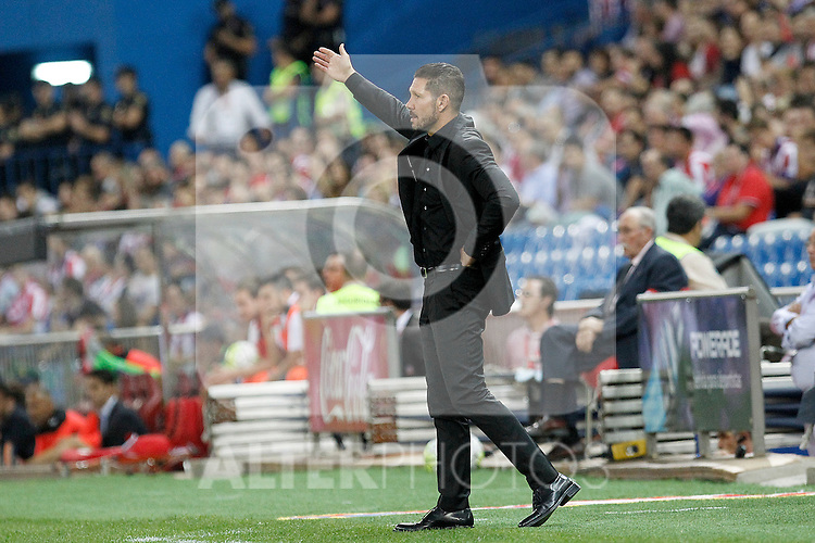 Atletico de Madrid's coach Diego Pablo Cholo Simeone during La Liga match.September 22,2015. (ALTERPHOTOS/Acero)