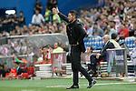Atletico de Madrid's coach Diego Pablo Cholo Simeone during La Liga match.September 22,2015. (ALTERPHOTOS/Acero)