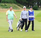 Stephen Docherty and Sophie Walker during the final round  of the 2016 Aberdeen Asset Management Ladies Scottish Open played at Dundonald Links Ayrshire from 22nd to 24th July 2016:  Picture Stuart Adams, www.golftourimages.com: 22/07/2016
