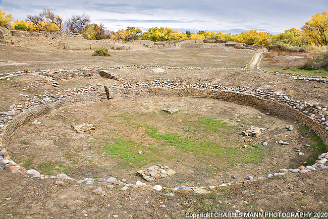The Salmon Ruins is an archeological site feturing the excavated ruins of a Anasazi village along the banks of the San Juan River in Bloomfield, New Mexico.