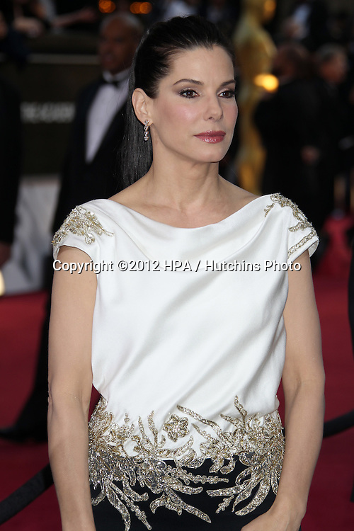 LOS ANGELES - FEB 26:  Sandra Bullock arrives at the 84th Academy Awards at the Hollywood & Highland Center on February 26, 2012 in Los Angeles, CA.