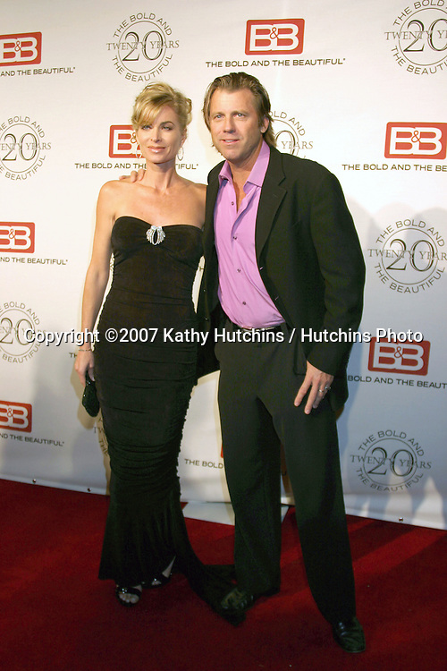 Eileen Davidson & Vince Van Patten.The Bold & The Beautiful 20th Anniversary Party.Two Rodeo Drive.Beverly Hills, CA.March 25, 2007.©2007 Kathy Hutchins / Hutchins Photo.