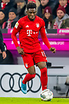 09.11.2019, Allianz Arena, Muenchen, GER, 1.FBL,  FC Bayern Muenchen vs. Borussia Dortmund, DFL regulations prohibit any use of photographs as image sequences and/or quasi-video, im Bild Alphonso Davies (FCB #19) <br /> <br />  Foto © nordphoto / Straubmeier
