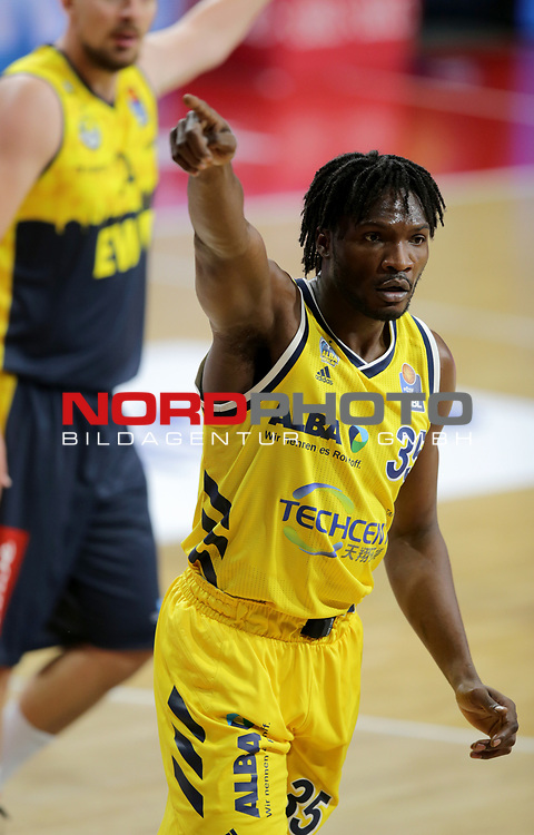 #35 Landry Nnoko von Alba Berlin   <br /> Basketball, nph0001 1.Bundesliga BBL-Finalturnier 2020.<br /> Halbfinale Spiel 2 am 24.06.2020.<br /> <br /> Alba Berlin vs EWE Baskets Oldenburg <br /> Audi Dome<br /> <br /> Foto: Christina Pahnke / sampics  / POOL / nordphoto<br /> <br /> National and international News-Agencies OUT - Editorial Use ONLY