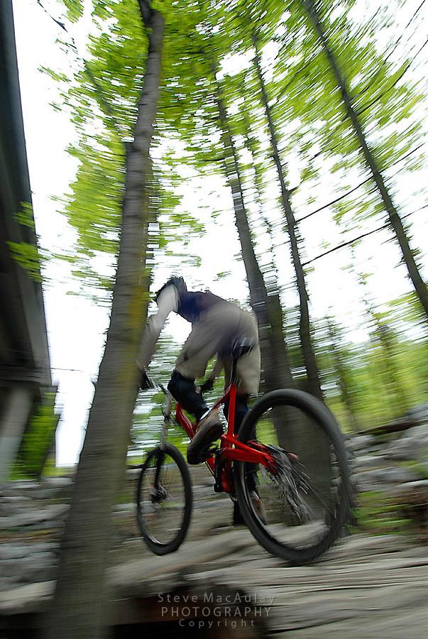 Mountain Biking at the Colonade Bike Park - Seattle WA. Urban Skills Park