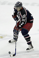 11 January 2006: Columbus Blue Jackets' Rick Nash plays against the Pittsburgh Penguins at Nationwide Arena in Columbus, Ohio.<br />