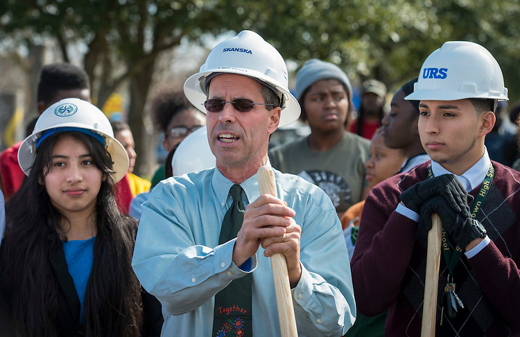 Robert Gasparello comments during Sharpstown High School groundbreaking ceremony, February 7, 2015.