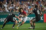 New Zealand vs France during the HSBC Hong Kong Rugby Sevens 2016 on 08 April 2016 at Hong Kong Stadium in Hong Kong, China. Photo by Li Man Yuen / Power Sport Images