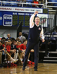 Coronado Head Coach Jeff Kaufman works the sidelines of a game against Carson in the NIAA Division I state basketball tournament in Reno, Nev. on Thursday, Feb. 25, 2016. Cathleen Allison/Las Vegas Review-Journal