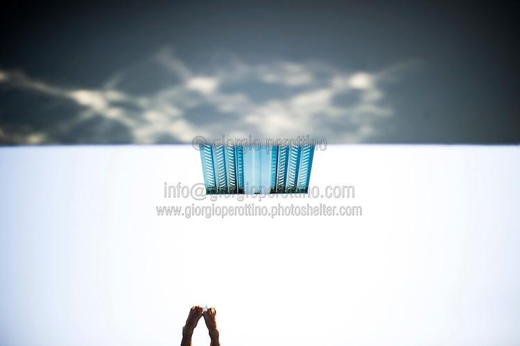 The springboard<br /> Men's 3m springboard semifinal<br /> Diving<br /> 15th FINA World Aquatics Championships<br /> Barcelona 19 July - 4 August 2013<br /> Piscina Comunal de Montjuic, Barcelona (Spain) 25/07/2013 <br /> © Giorgio Perottino
