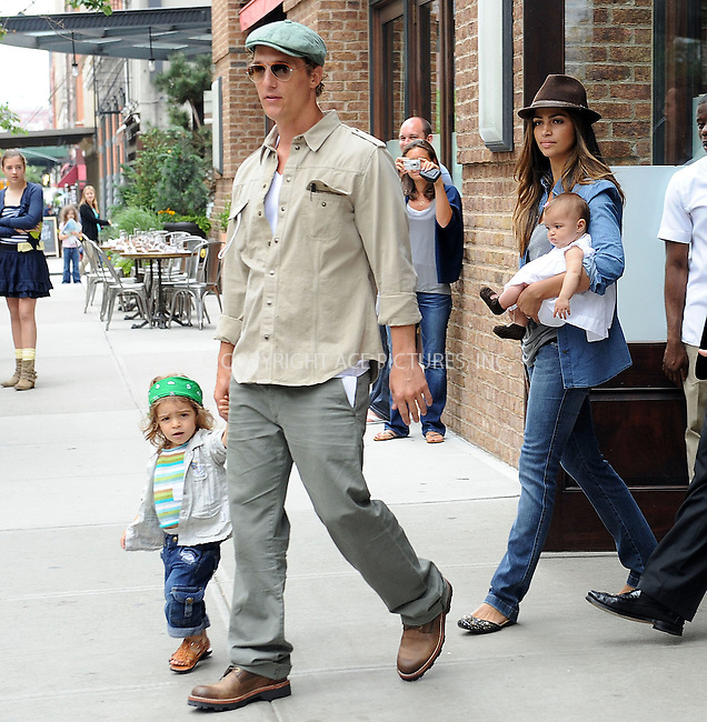 WWW.ACEPIXS.COM . . . . . ....June 16 2010, New York City....Actor Matthew McConaughey and model Camila Alves with their children Levi (L) and Vida leave their Soho hotel on June 16 2010 in New York City....Please byline: KRISTIN CALLAHAN - ACEPIXS.COM.. . . . . . ..Ace Pictures, Inc:  ..(212) 243-8787 or (646) 679 0430..e-mail: picturedesk@acepixs.com..web: http://www.acepixs.com