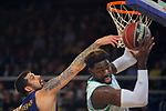 League ACB-ENDESA 2017/2018 - Game: 27.<br /> FC Barcelona Lassa vs Real Betis Energia Plus: 121-56.<br /> Adrien Moerman vs Oderah Anosike.