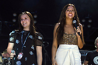 07 June 2018 - Nashville, Tennessee - Lennon Stella, Maisy Stella. 2018 CMA Music Festival Nightly Concert held at Nissan Stadium. <br /> CAP/ADM/DMF<br /> &copy;DMF/ADM/Capital Pictures