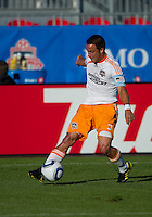 01 July 2010:  Houston Dynamo midfielder Danny Cruz #5 in action during a game between the Houston Dynamo and the Toronto FC at BMO Field in Toronto..Final score was 1-1....