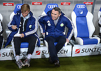 FUSSBALL  1. BUNDESLIGA  SAISON 2012/2013  14. SPIELTAG     TSG 1899 Hoffenheim - VfL Wolfsburg       18.11.2012 Andries Jonker mit Manager Klaus Allofs (VfL Wolfsburg)