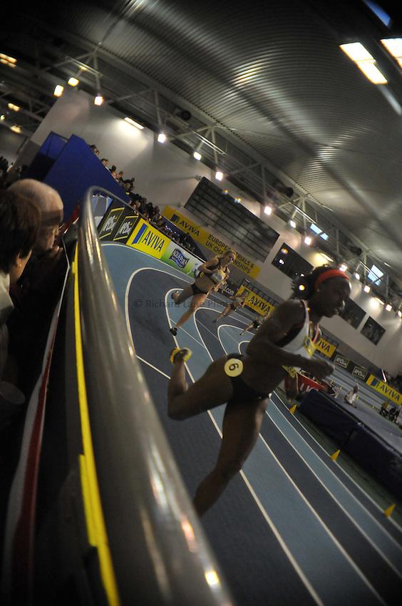Photo: Tony Oudot/Richard Lane Photography..Aviva European Trials & UK Championships athletics. 14/02/2009. .Spectators watching the action