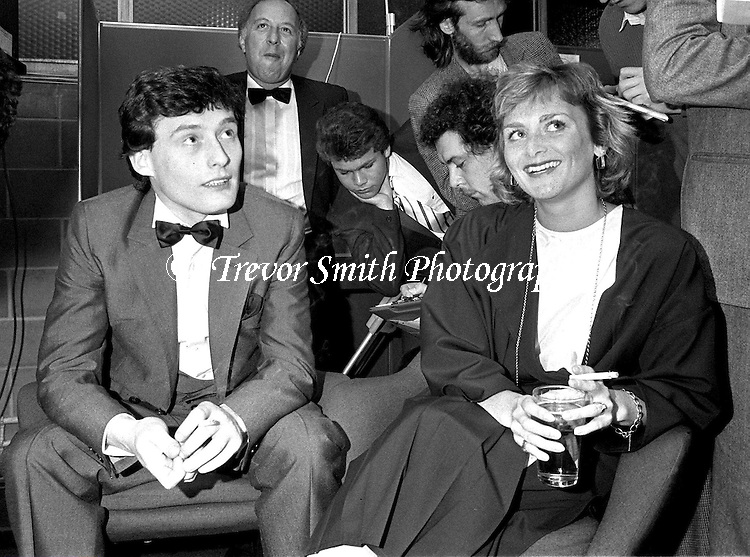 Snooker player Jimmy White & wife Maureen....  after losing 1984 World Professional Snooker Championship in Sheffield against Steve Davis