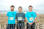 At the Maharees Brandon Bay Half Marathon on Saturday were l-r  Brian Humphries, David Walsh and Adrienne O'Connor.