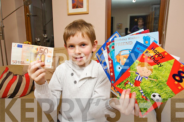 Eight years old Ciarán Foran Rumpler who gave away  his Birthday money to local charities.