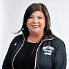 Coach Anna Spallina of Rocky Point poses for a portrait during Newsday's All-Long Island cheerleading photo shoot at company headquarters in Melville on Friday, March 23, 2018.