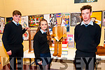 Awards Night :St. Joseph's College, Ballybunion winners of the Senior craft competition Michael Dee, Zoe Prendergast & Stephen Mason displaying their designs at the awards night held in the Tintean Centre, Ballybunion on Thursday night last.