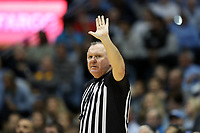 CHAPEL HILL, NC - FEBRUARY 1: Official Jamie Luckie during a game between Boston College and North Carolina at Dean E. Smith Center on February 1, 2020 in Chapel Hill, North Carolina.