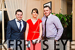 Having a great night at the Lee Strand Social on Saturday night at the Pavilion In Ballygarry House Hotel. were Patrick O Shea, Lauren O Leary and Brian Daly.