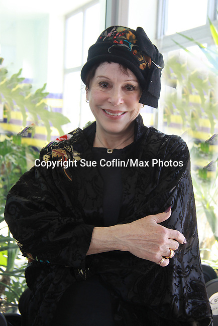 """Days Of Our Lives Louise Sorel at Promo shoot for the annual Broadway Extravaganza in honor of Jane Elissa's Candidacy for Leukemia & Lymphoma Society Woman of the Year and for Hats for Health on April 23, 2012 at the Marriott Marquis Hotel, New York City, New York. In the shoot are Days of Our Live Louise Sorel """"Vivian"""", Broadway Bonnie and Clyde Melissa VanDer Schyff and Clay Elder, Dale Badway (Creator Fame-Wall) and host for the upcoming event, Corey Brunish (producer of Bonnie & Clyde) and Billy Freda, Missy Modell (Photo by Sue Coflin/Max Photos)"""