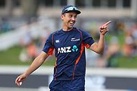New Zealand's Trent Boult. New Zealand Blackcaps v England. Tri-Series International Twenty20 cricket. Seddon Park, Hamilton, New Zealand on Sunday 18 February 2018.<br /> <br /> Copyright photo: &copy; Bruce Lim / www.photosport.nz