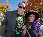 John and 9-year-old Lola during Pumpkin Palooza in Sparks, Nevada on Sunday, Oct. 22, 2017.