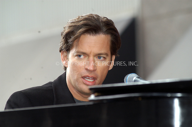 Harry Connick Jr. giving a free concert in Celebration of  Bloomingdale's holiday window displays. New York, November 25, 2003. Please byline: AJ SOKLANER/NY Photo Press.   ..*PAY-PER-USE*      ....NY Photo Press:  ..phone (646) 267-6913;   ..e-mail: info@nyphotopress.com