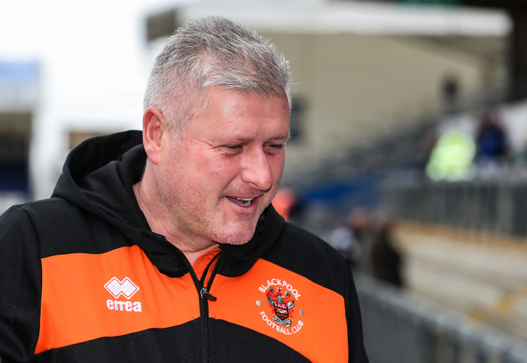Blackpool's manager Terry McPhillips<br /> <br /> Photographer Andrew Kearns/CameraSport<br /> <br /> The EFL Sky Bet League Two - Bristol Rovers v Blackpool - Saturday 2nd March 2019 - Memorial Stadium - Bristol<br /> <br /> World Copyright © 2019 CameraSport. All rights reserved. 43 Linden Ave. Countesthorpe. Leicester. England. LE8 5PG - Tel: +44 (0) 116 277 4147 - admin@camerasport.com - www.camerasport.com