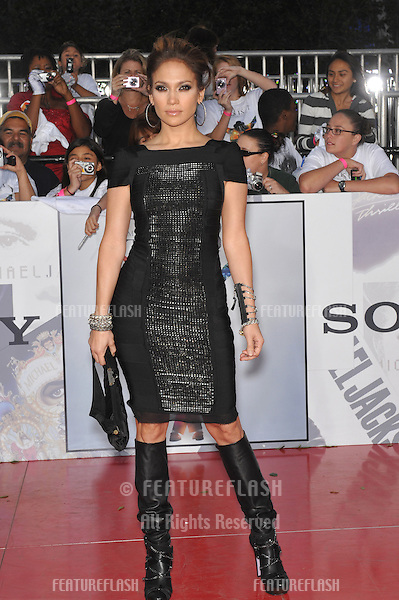 "Jennifer Lopez at the premiere of Michael Jackson's ""This Is It"" at the Nokia Theatre, L.A. Live in downtown Los Angeles..October 27, 2009  Los Angeles, CA.Picture: Paul Smith / Featureflash"