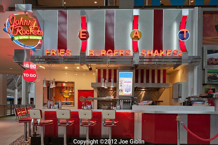 Johnny Rocket's Providence Place Mall, photographed on Friday, January 27, 2012.  (Photo/Joe Giblin)