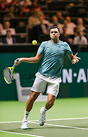 Rotterdam, The Netherlands, 14 Februari 2019, ABNAMRO World Tennis Tournament, Ahoy, Jo-Wilfried Tsonga (FRA),<br /> Photo: www.tennisimages.com/Henk Koster
